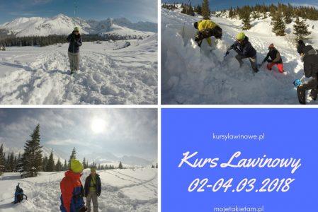 Kurs Lawinowy Zakopane 2-4 marzec 2018